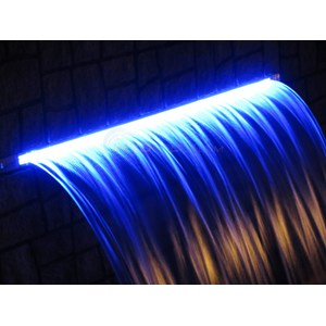 18 Quot Led Pool Waterfall Color Changing W 6 Quot Lip White