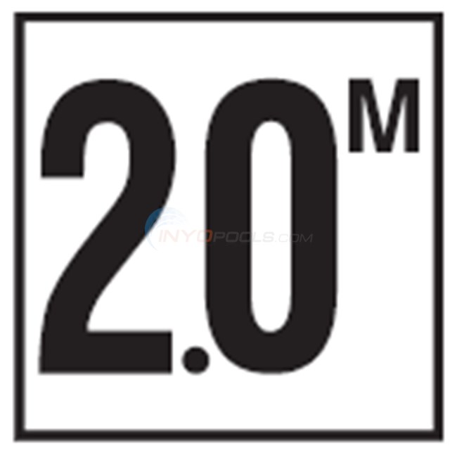 "Inlays Depth Marker-Glass 6"" Smooth Tile Metric (1 tile)-2.0 with M - G612720"