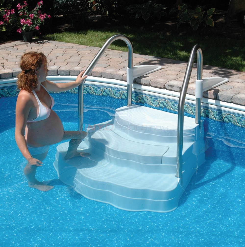 wedding cake steps for inground pool lumi o inground pool step w s s rails 5445 ne102 8775