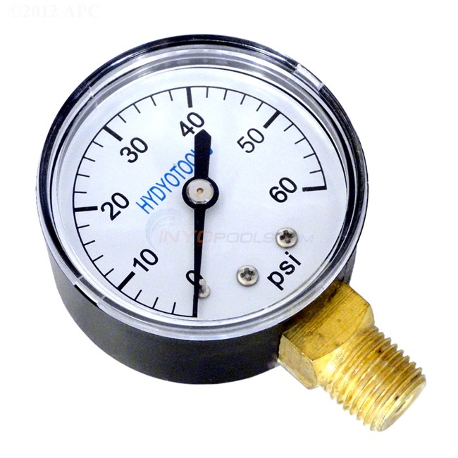 "Bottom Mount Pressure Gauge 0-60 1/4"" NPT - 101D-204D"