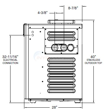 Raypak Pool Heater Dimensions