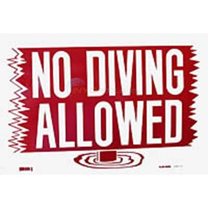 Swimming Pool Safety Sign No Diving Allowed Nsssw13