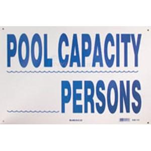 Swimming Pool Sign Pool Capacity Nsssw15