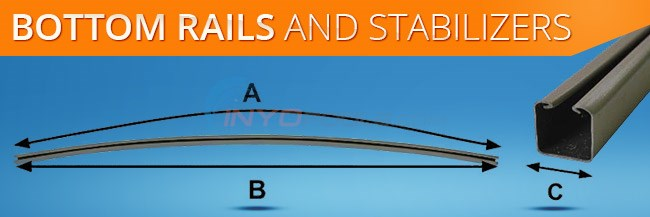 Above Ground Pool Bottom Rails and Stabilizers Diagram
