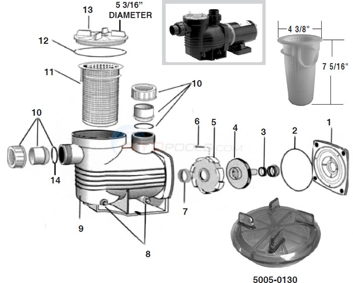 Waterco Aquamite Pump Parts Diagram