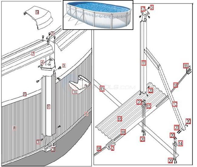 Atlantis Esprit 15 X30 Oval 52 Quot Blue Wall Parts