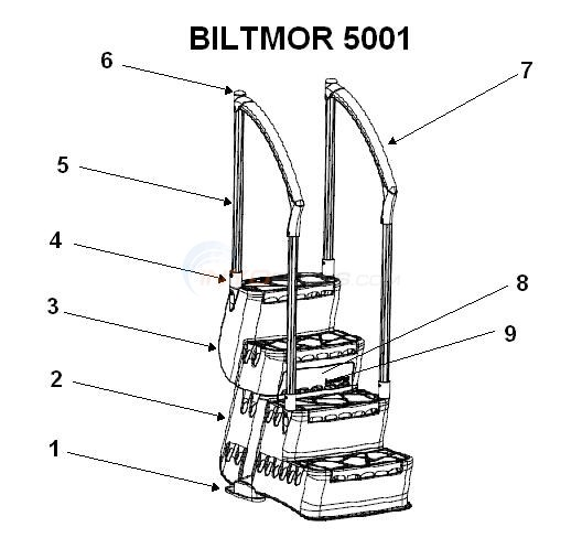 Parts innovaplas biltmor 5001 step on ladder diagram