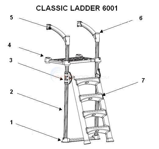 Innovaplas Classic Ladder 6001 Parts