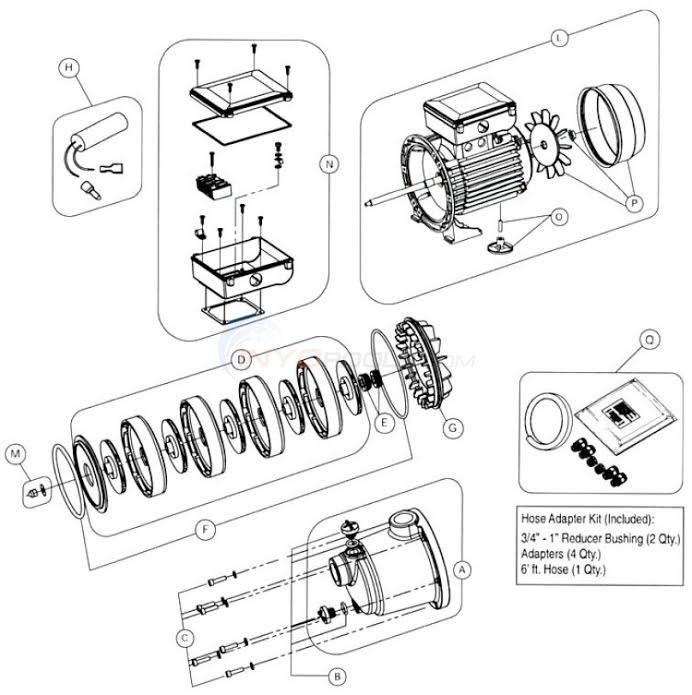 Pentair Boost Rite Booster Pump Parts Inyopools Com
