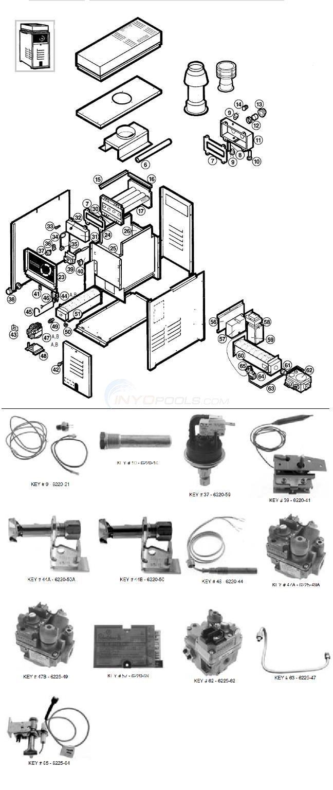 Comfortzone / Hayward Gas Heater Parts Diagram