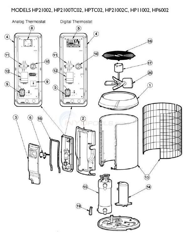 Hayward Heatpro Heat Pumps Set 2 Parts Inyopools Com