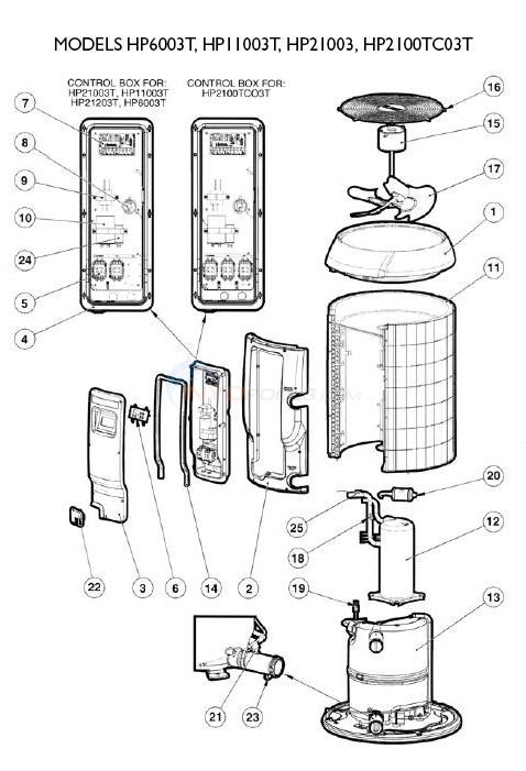 Hayward Heatpro Heat Pumps Set 3 Parts Diagram