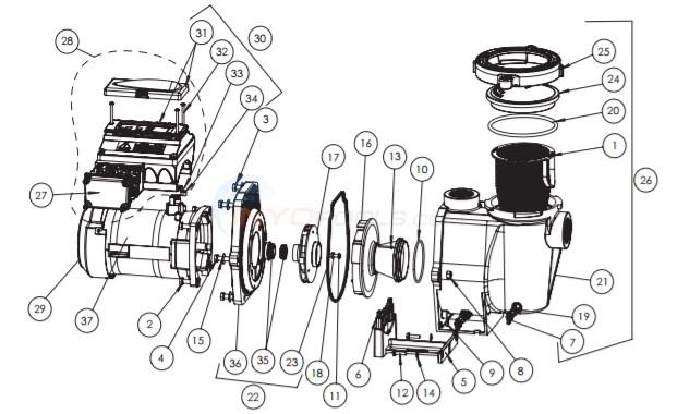 Pentair Intelliflo i1 Variable Speed Pump (Pre-April 2016