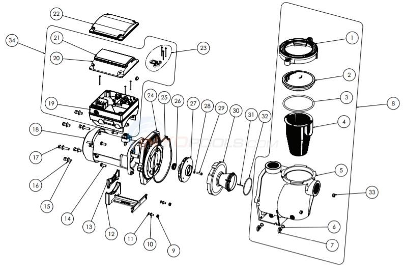 Pentair IntelliFlo VS+SVRS Pump (June 2016-Current) Parts