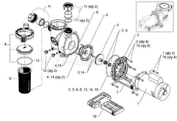 Whisperflo Pool Pump Diagram, Whisperflo, Free Engine
