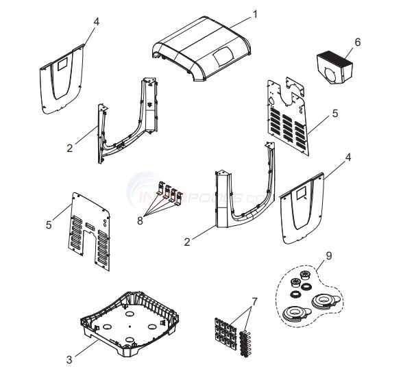 Jandy JXi Series Gas Heater Cabinet System Components