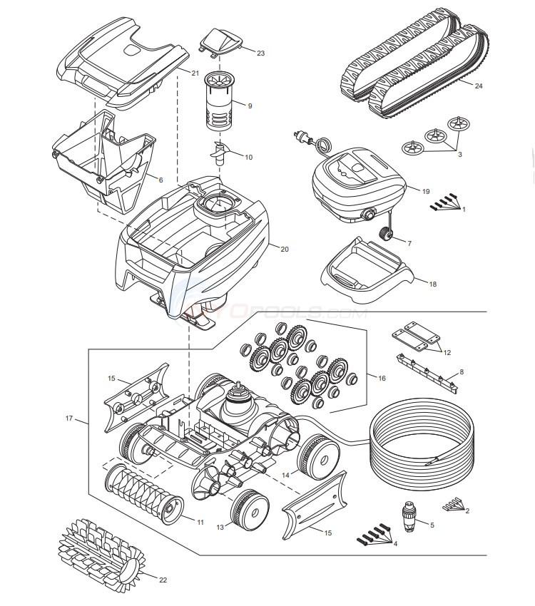 Polaris 7240 Sport Compact Robotic Cleaner Parts ...