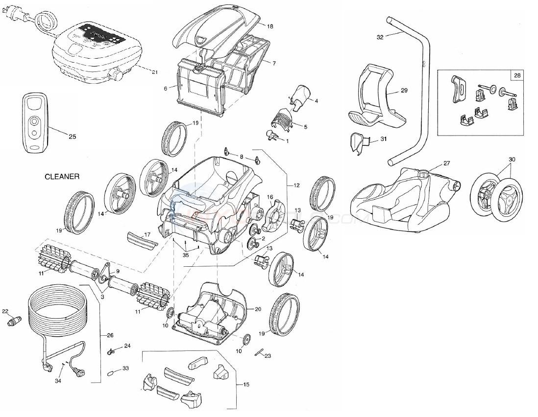 Polaris 9550 Sport Robotic Cleaner Parts - INYOPools.com