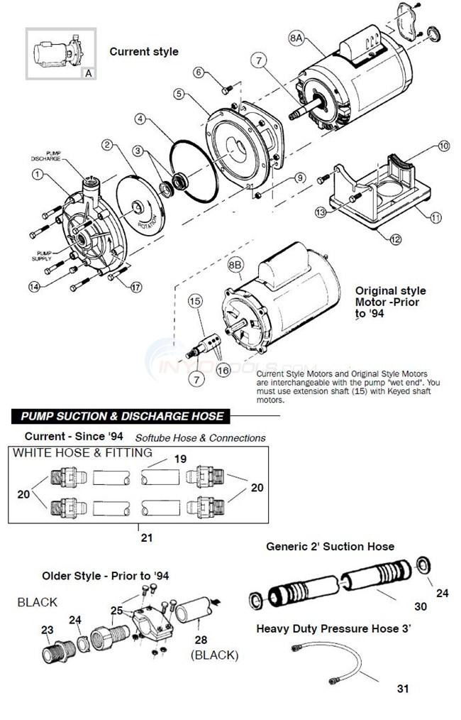 Polaris Booster Pump Model Pb4 60 Parts Inyopools Com