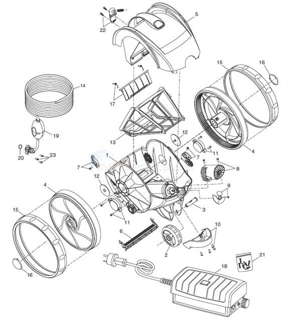 Polaris 9100 Sport Robotic Cleaner Parts Inyopools Com
