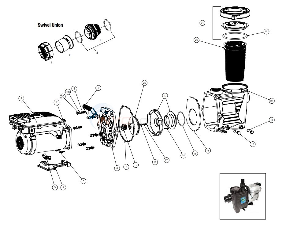 Waterway Power Defender 300 Variable Speed Pump Diagram