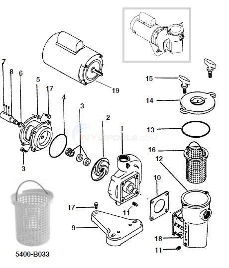 Premier 455 Bronze Pump Parts Diagram
