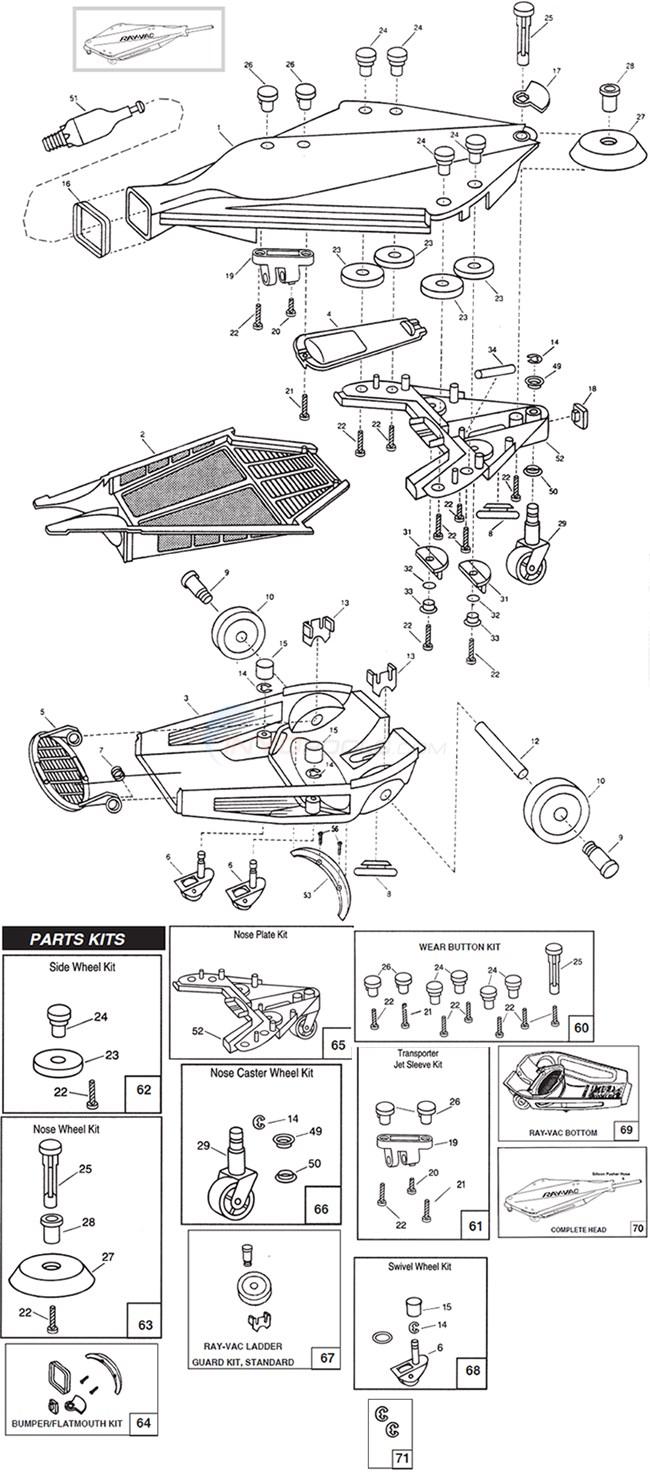 jandy ray vac gunite head parts. Black Bedroom Furniture Sets. Home Design Ideas
