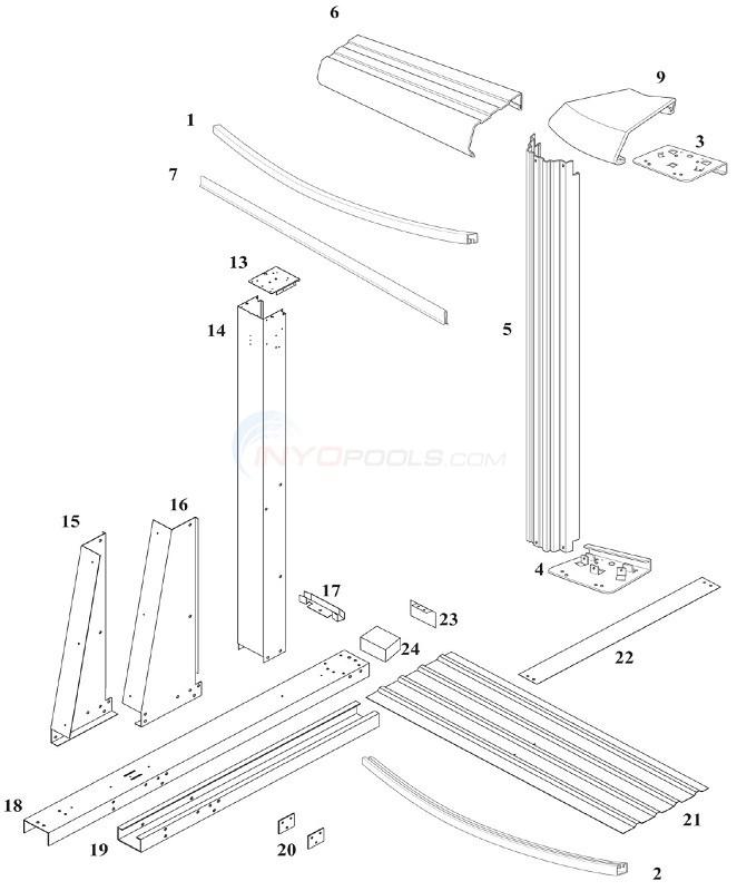 Reprieve & Concord 48 15'x30' Yardmore Oval (Steel Top