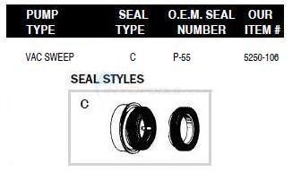 Polaris Pump Shaft Seals Parts - INYOPools.com
