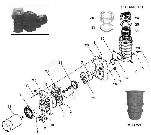 Speck Model 433 Pump Parts Inyopools Com