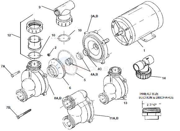 Vico Ultra Flow Pump Parts Inyopools Com