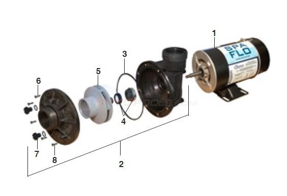 Waterway Spa Flo Pump Parts Inyopools Com