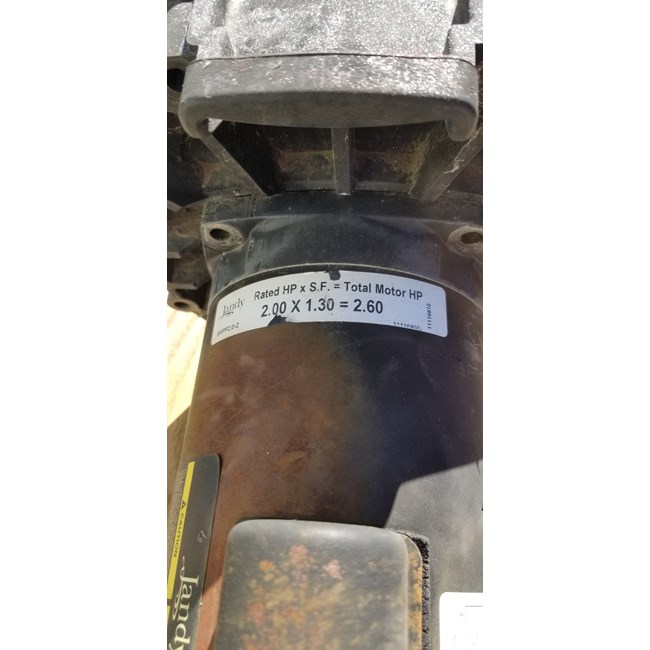 A.O. Smith Century 2.0 HP Square Flange 56Y Dual Speed Full Rate Motor - B2984