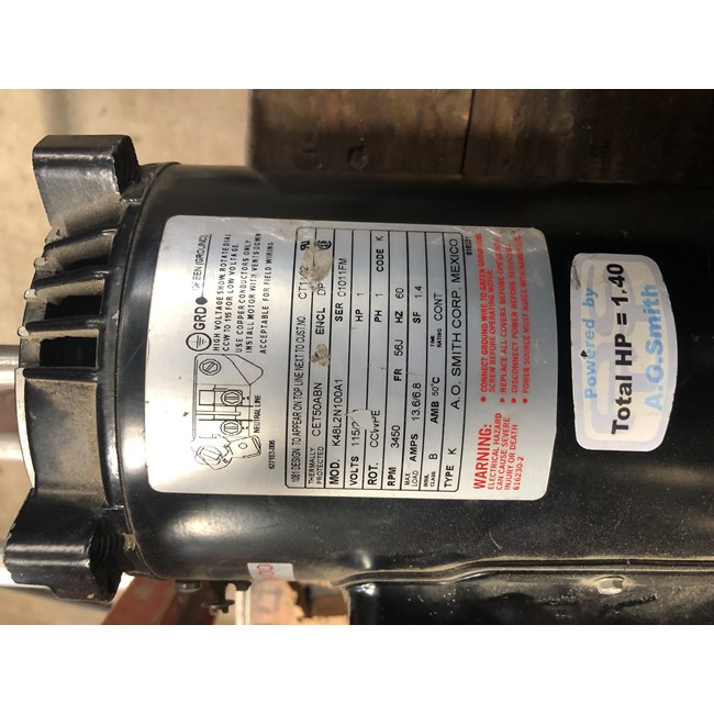 A.O. Smith Century 3/4 HP Square Flange 48Y Full Rate Motor - SQ1072