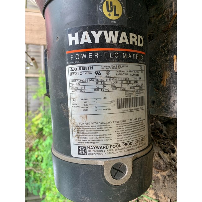 Hayward PowerFlo Matrix Pump 1.5 HP - SP1593 - W3SP1593